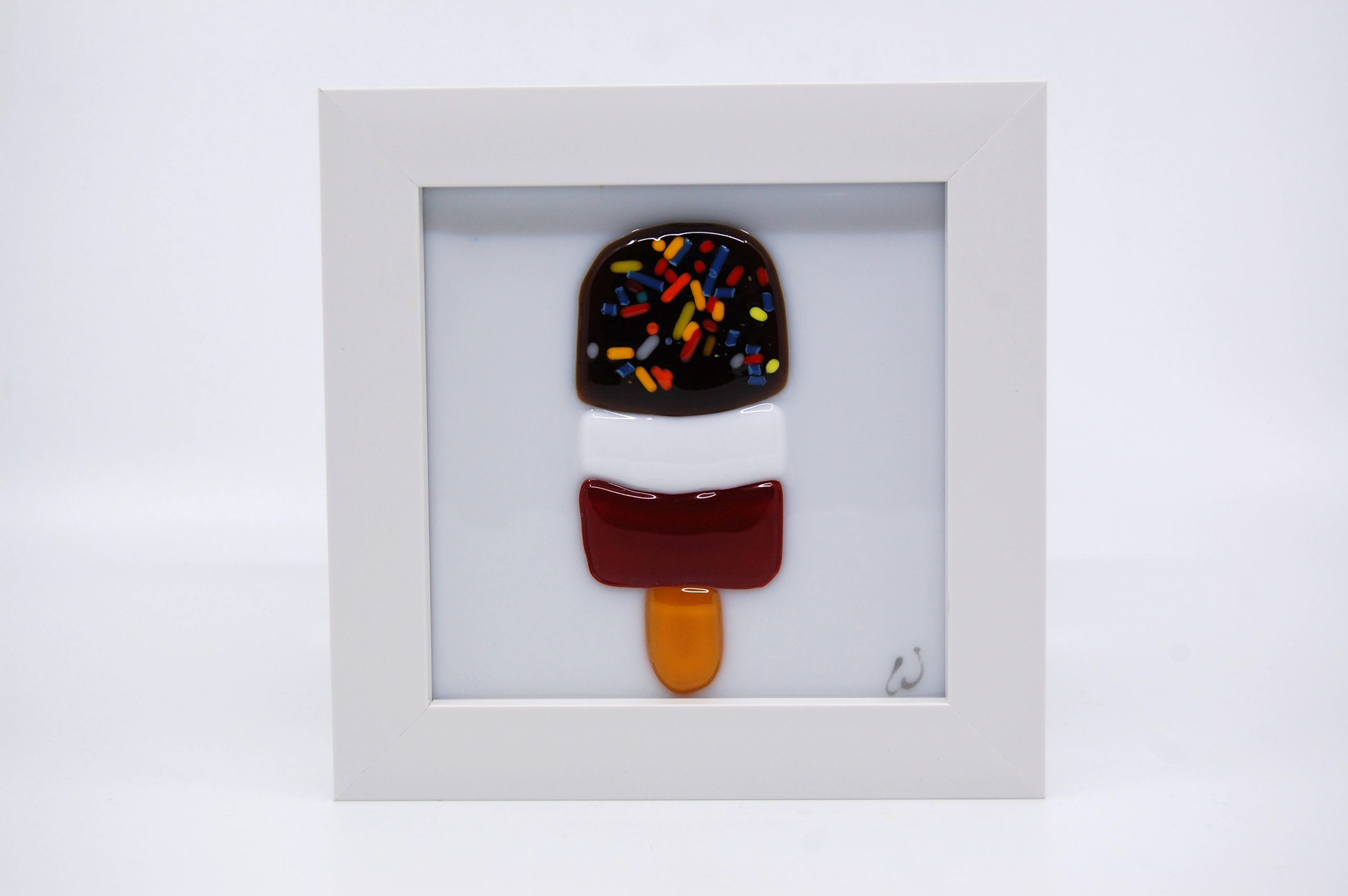 FAB Ice Lolly Fused Glass Picture