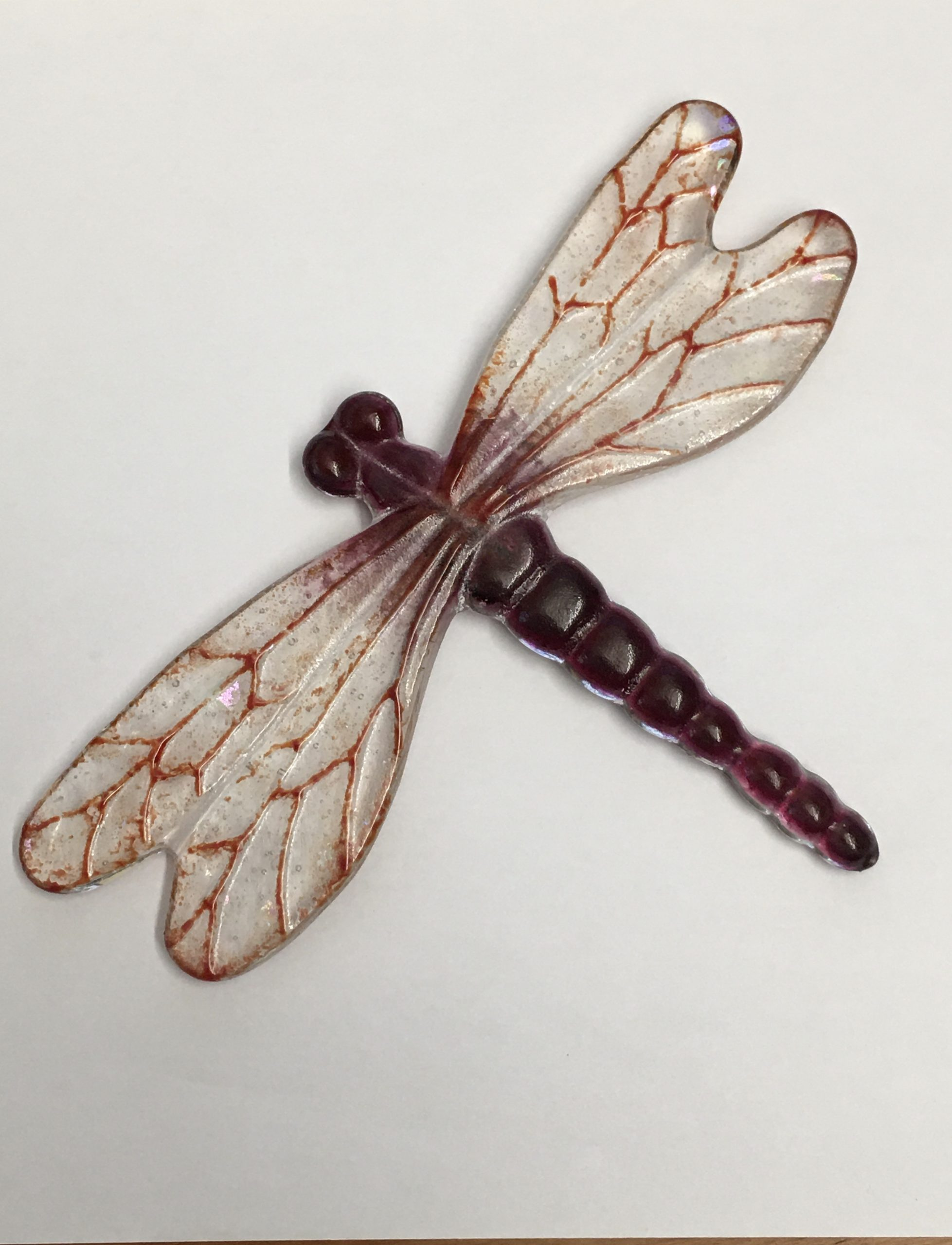 Dragonfly  - Wall Art. Deep Pink