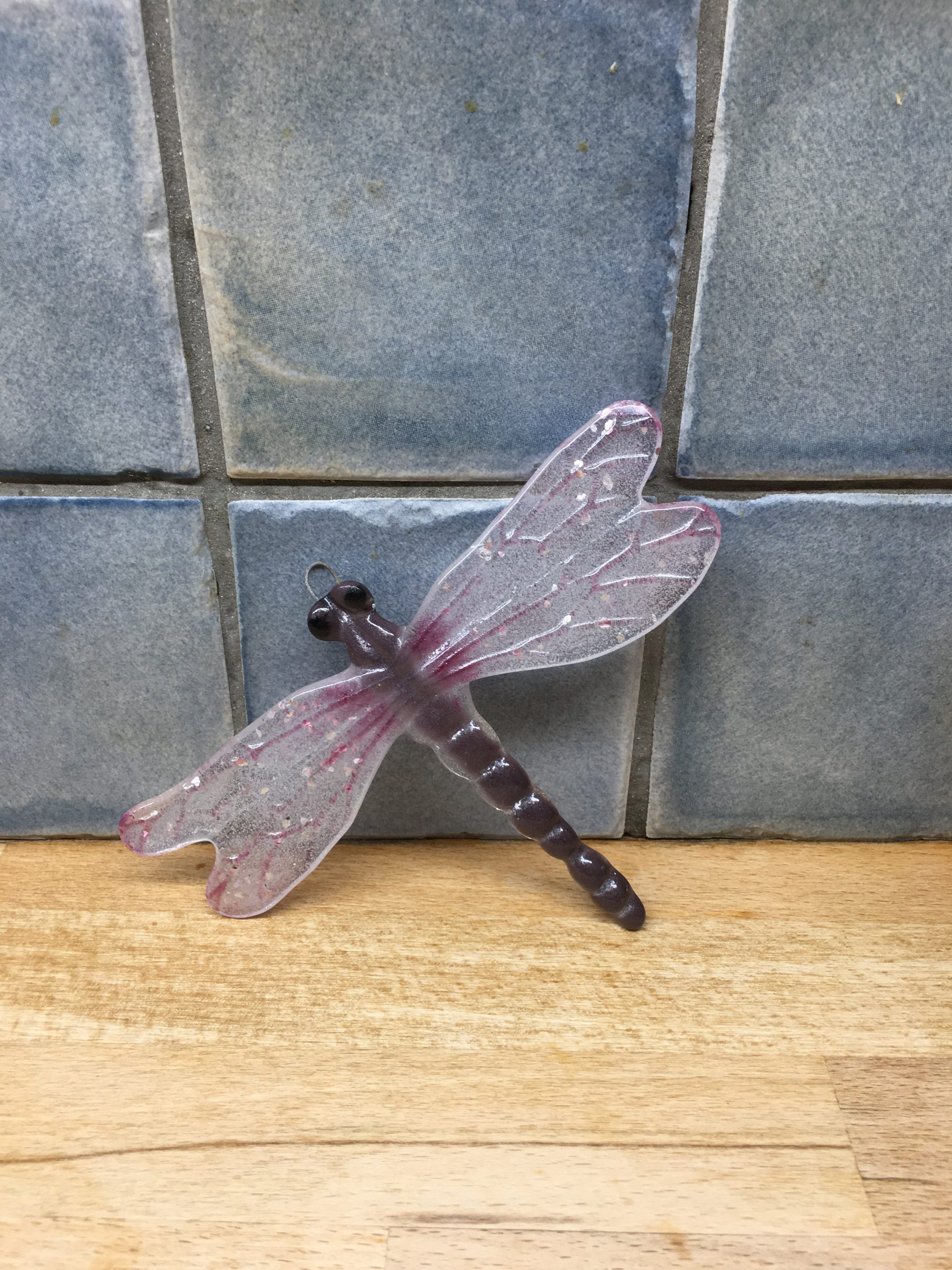 Dragonfly  - Wall Art. Pink Sparkle