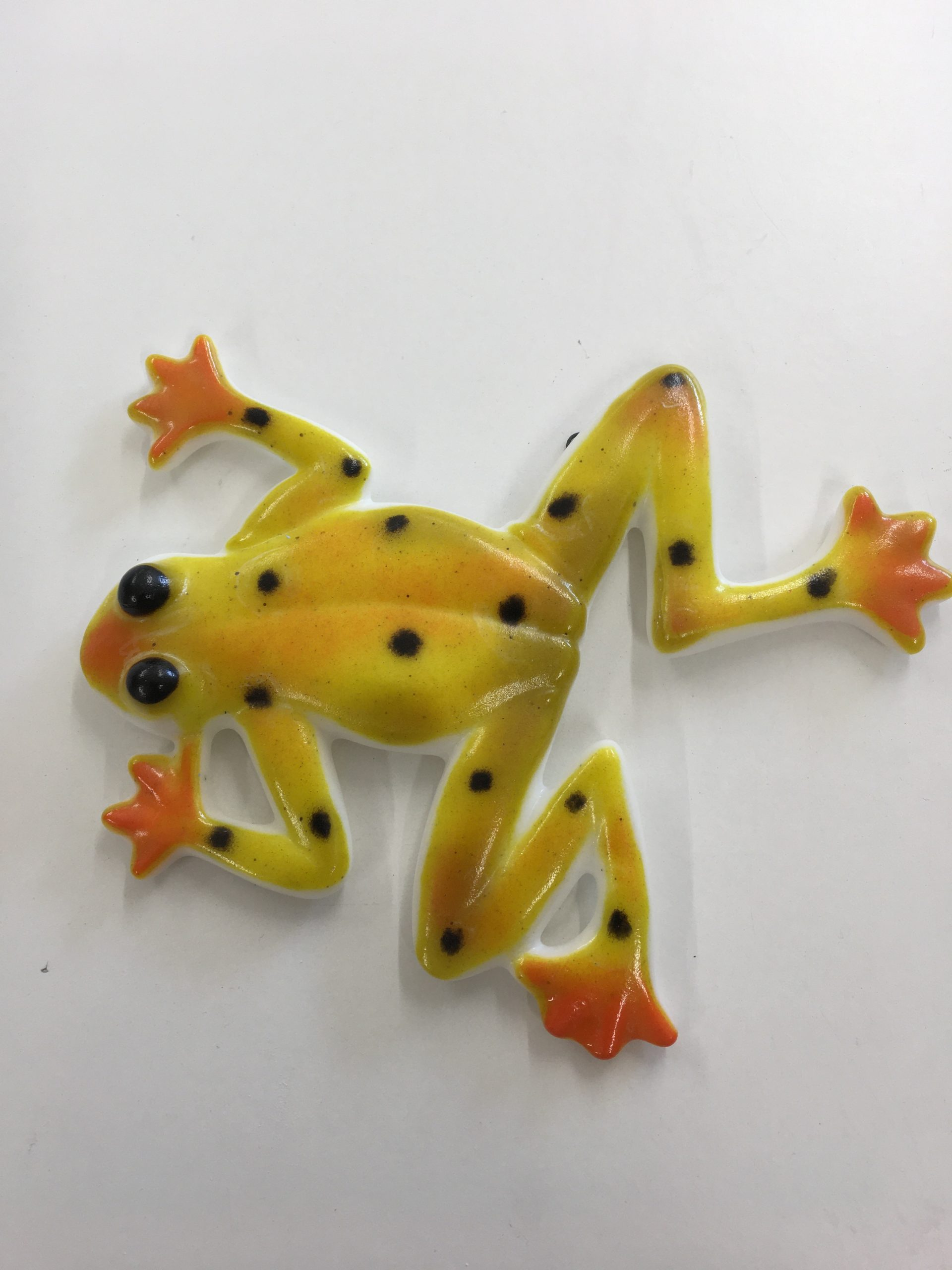 Tree Frog - Wall Art - Yellow