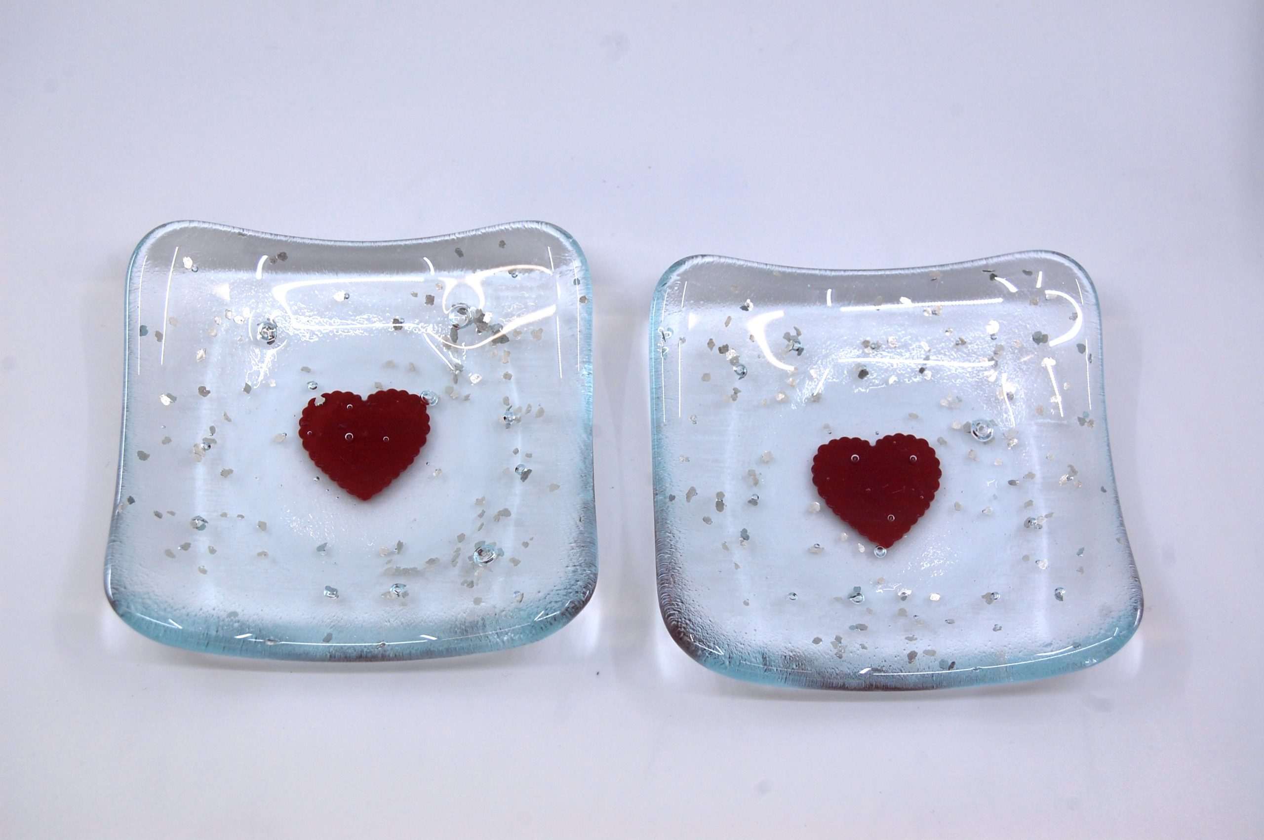 Heart Trinket Dish - Red