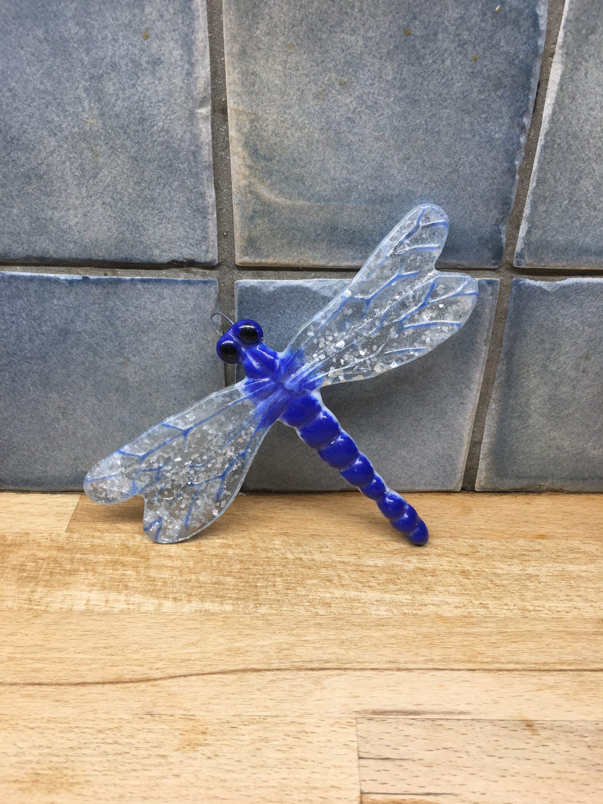Dragonfly  - Wall Art. Blue Sparkle
