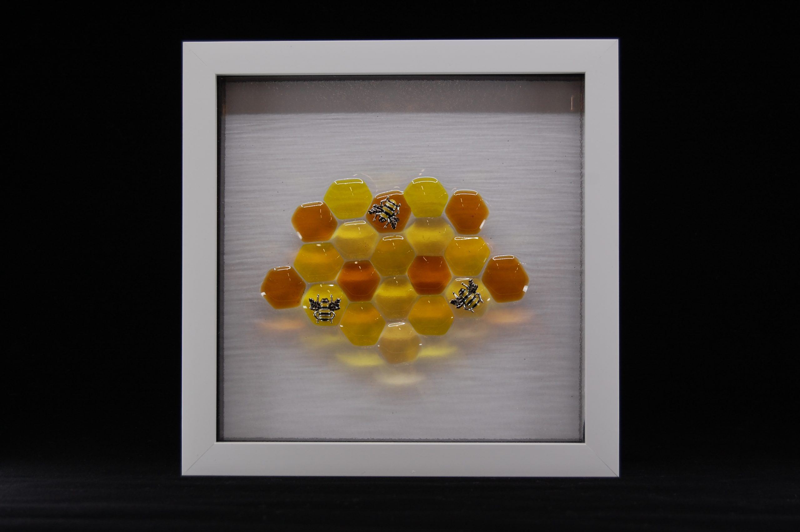 Bumblebee Fused Glass Picture