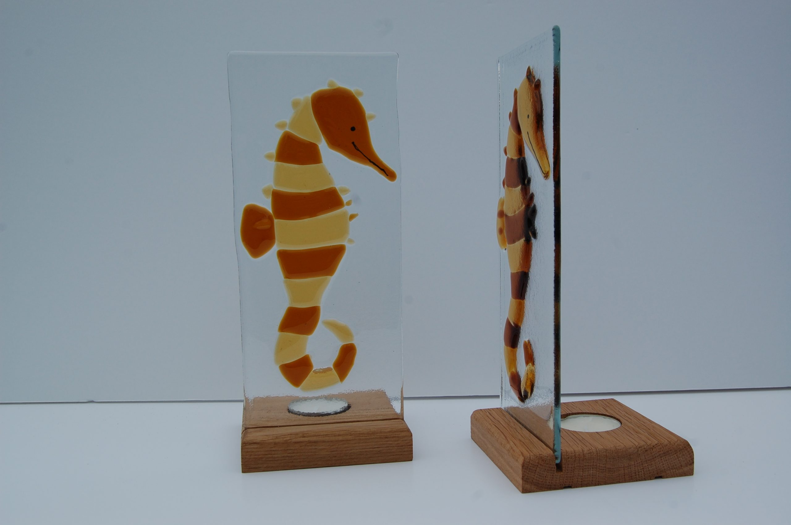 Seahorse on Wooden Stand