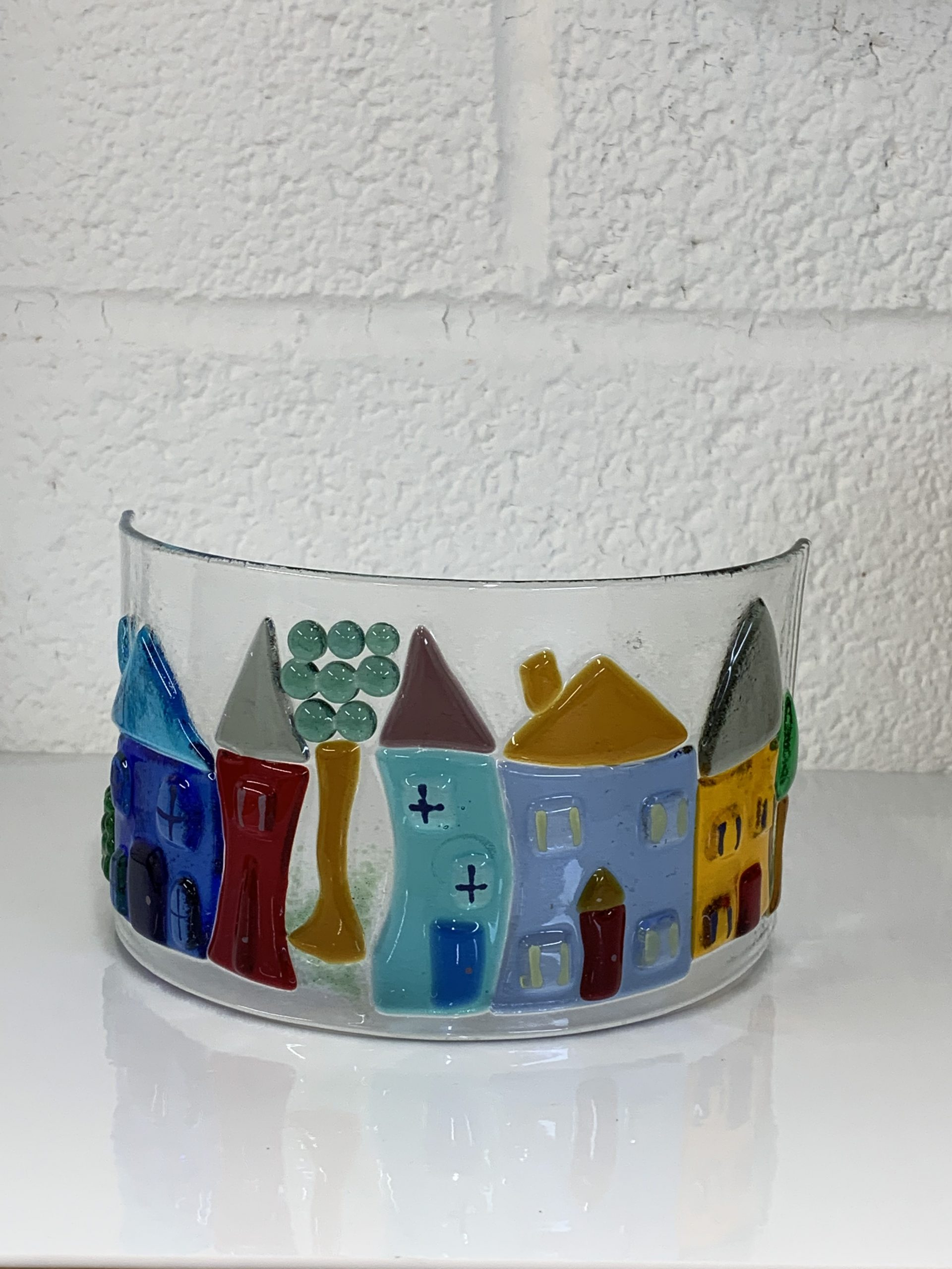 Whimsical Village Candle  Curve